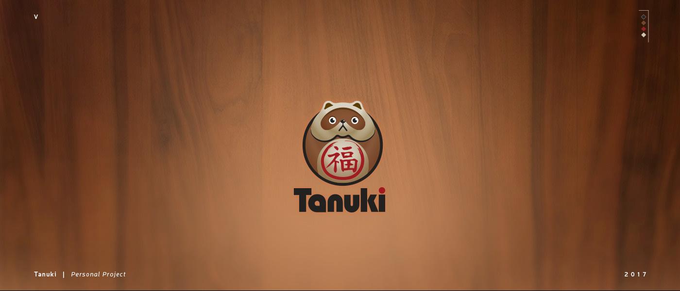 tanuki racoon logo